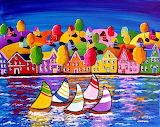 #Fall Sailboats by Renie Britenbucher
