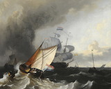Shipping: A fresh Breeze by Ludolf Bakhuizen