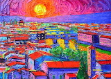 Vibrant-florence-sunset-modern-impressionism-abstract-city-knife