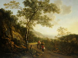 Landscape with Figures (Evening) by Jan Both