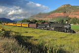 Durango and Silverton Narrow Gauge southbound to Durango