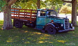 Old mack truck on a farm