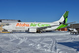 Aloha Air Cargo Boeing 737 at Anchorage Alaska