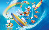 Donald-Duck-summer-surf-beach-sea-fish