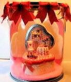 Valentine Scene in Paint Bucket by Donna Post