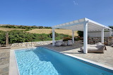 Luxury rural villa pool and terrace, Paros