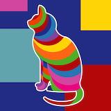 ^ Colorful Cat - Pixabay