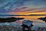 Boat by lake