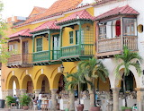 ^ Beautiful balconies, Cartagena, Columbia