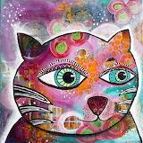 Abstract funky cat, Stephanie Estrin