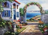 House w Garden Facing the Sea~