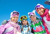 Girls, woman, friends, winter, mountain, fun, ski glasses