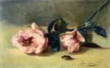 Eva Gonzalès, Peonies and June Bug, 1871-1872