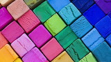 Cubes clay colors