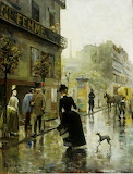 Akseli Gallen-Kallela: Pariisin bulevardi (1885)