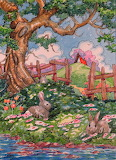 Bunny Shade Storybook Cottage, Alida Akers