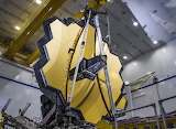 "Space ESA ""James Webb Space Telescope's primary mirror unfolded"""