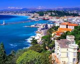 View of a Southern European Coastal City