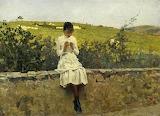 Telemaco Signorini, Sulle colline a Settignano, 1885