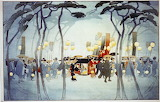 "Art ""Library of Congress"" ""The Procession"" ""Bertha Lum"" Woodcut"
