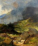 Yorkshire Moorland near Whitby by John Joseph Banks
