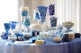 Blue Candy Wedding Buffet