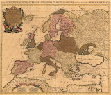 Mapa de Europa, siglo XVIII