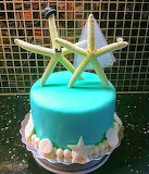 Mr. and  Mrs. Starfish @ Cake Central