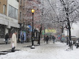Snow in Greenwich Village, NYC