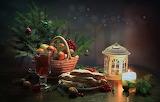 Frutas en navidad