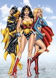 Supergirl Batgirl Wonder Woman Girls Night Out