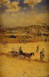 The Beach at Trouville - JF Raffaelli 1875