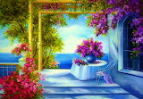 ☺♥ Terrace by the sea...