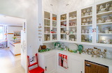 Butler Pantry with Dishes in Cabinets