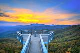 Blue Ridge Mountain Vista Sunset