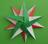 ^ Christmas 5-Pointed Origami Star