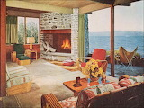 1950s waterside home interior