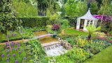 Garden design with she shed