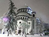 Winter, church St Sava