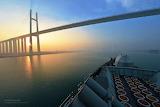 HMS Monmouth under Suez Canal Photo by LA(Phot) Ben Shread
