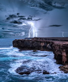 Lightening strike Yorke Peninsula South Australia