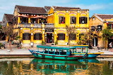 Hoi An Old Town riverside Vietnam
