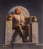 Isaac Asimov on Throne