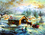 over the covered bridge
