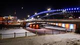 Russia Winter Omsk Bridge