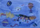 Giotto/Halley's Comet Children's Art, HQ-PHOTO-1986.X.22.1-10