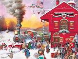 Christmas Train Station
