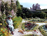 Queen Mother and Corgi at Castle Mey