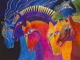 ^ Horses ~ Laurel Burch