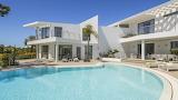 Minimalist modern white villa and pool in the Algarve